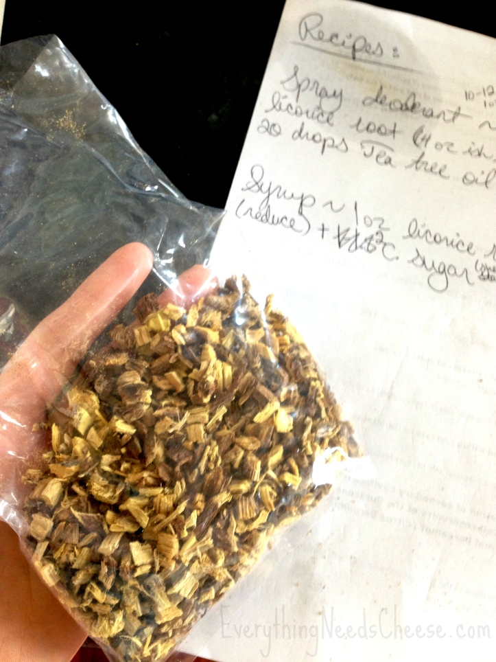 Dried Licorice Root for Cold & Flu Fighting Syrup via Everything Needs Cheese