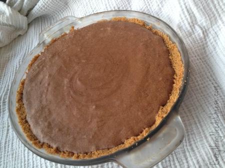 Chocolate Bailey's Irish Cream Mousse Pie with Graham Cracker Crust via Everything Needs Cheese